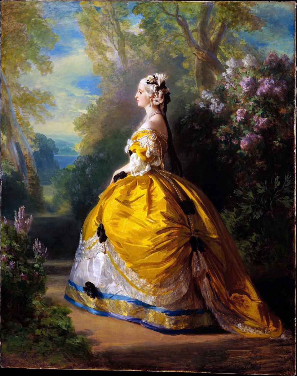 L'impératrice Eugénie à la Marie-Antoinette, 1854, Franz Xaver Winterhalter.jpg