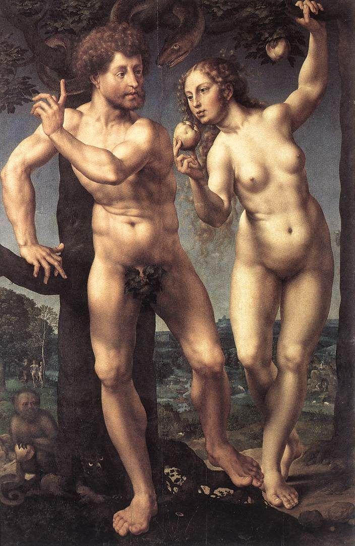 (1525) Jan Gossaert-Adam & Eve (Staatliche Museum, Berlin).jpg