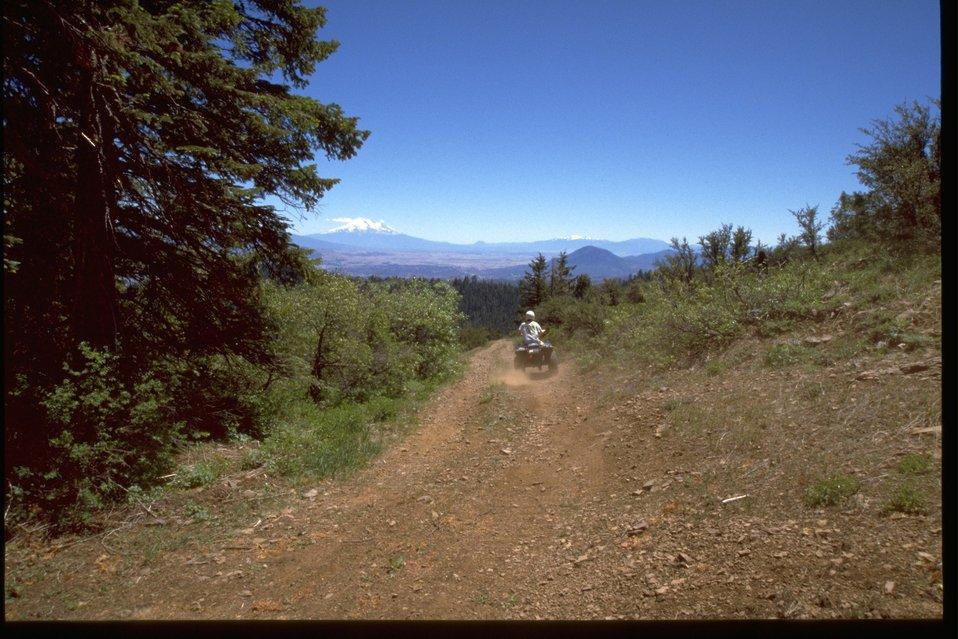 ATV rider on an off road vehicle.