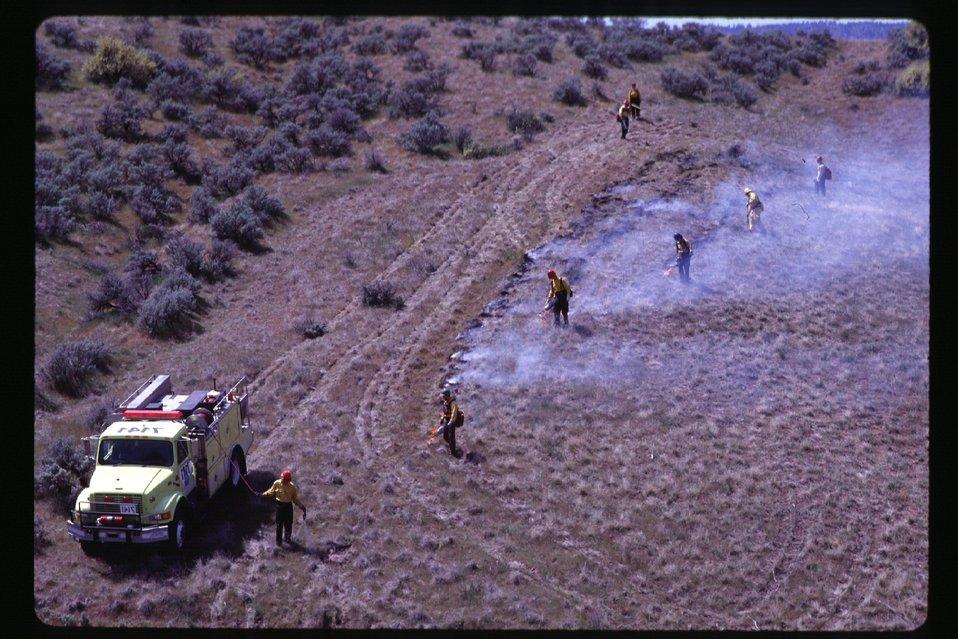 Prescribed burn  Fire break  Four Rivers Field Office  LSRD  Lower Snake River District