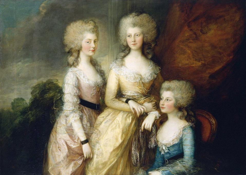 The Three Eldest Princesses, Charlotte, Princess Royal, Augusta and Elizabeth - Gainsborough 1784.jpg