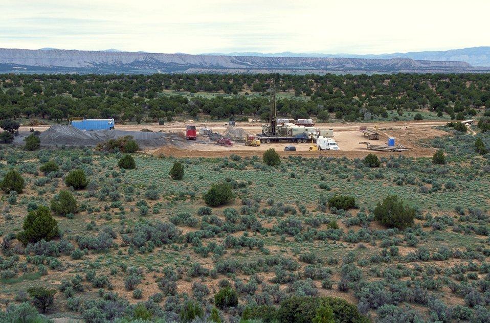 Drilling for coal bed methane near Price, Utah.