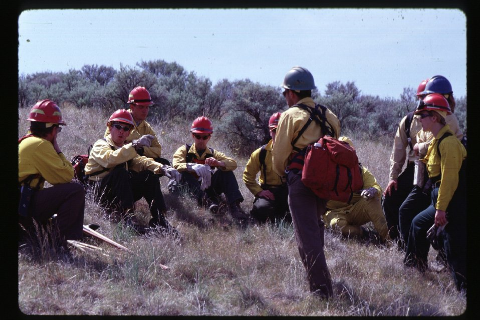 Fire fighters  Training  Four Rivers Field Office  LSRD  Lower Snake River District