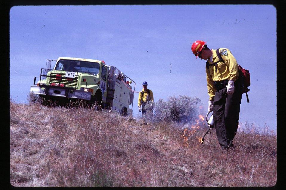 Prescribed burn  Four Rivers Field Office  LSRD  Lower Snake River District