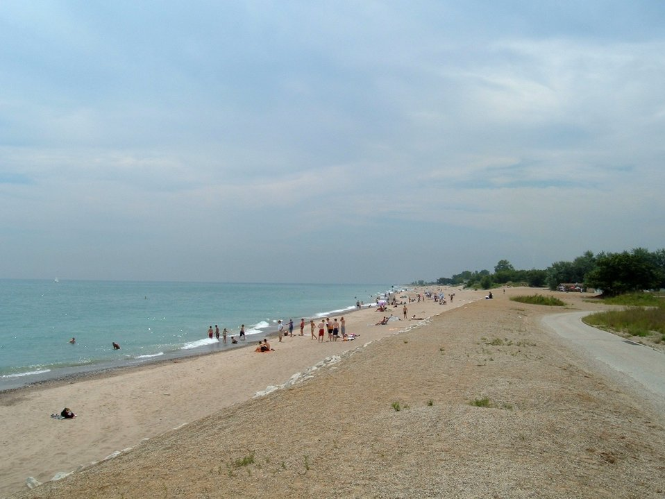 Main beach at southern unit of Illinois Beach State Park. Photo taken in 2006 by Dave Piasecki