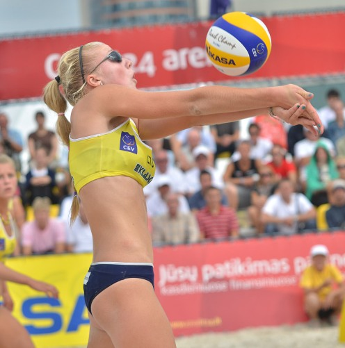 Lithuanian beach volleyball player Ieva Dumbauskaitė