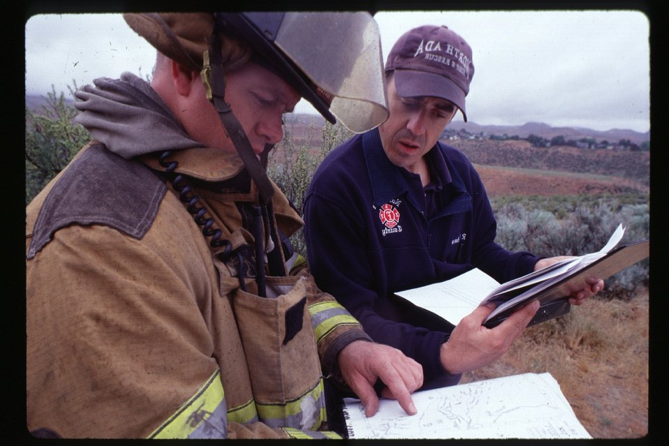 Fire fighter training  Four Rivers Field Office  LSRD  Lower Snake River District