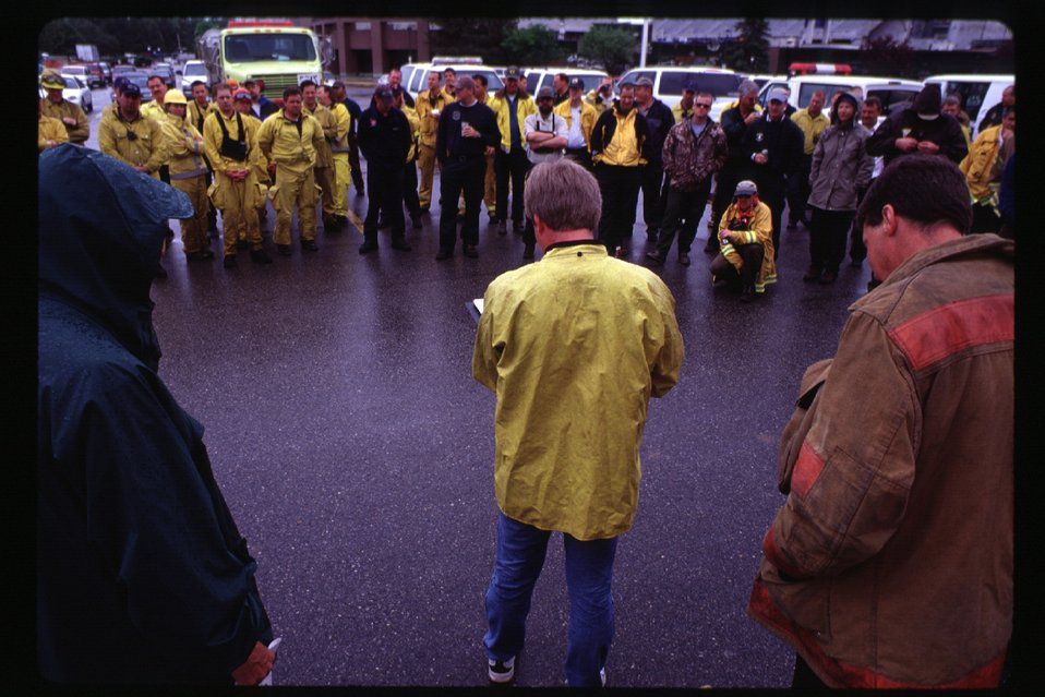 Fire fighter training in foothills  Four Rivers Field Office  LSRD  Lower Snake River District