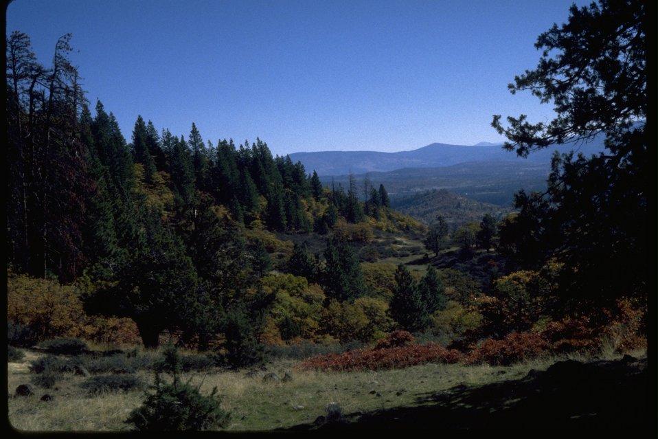 Fall Creek Ranch from the east end of Keene Creek Ridge.