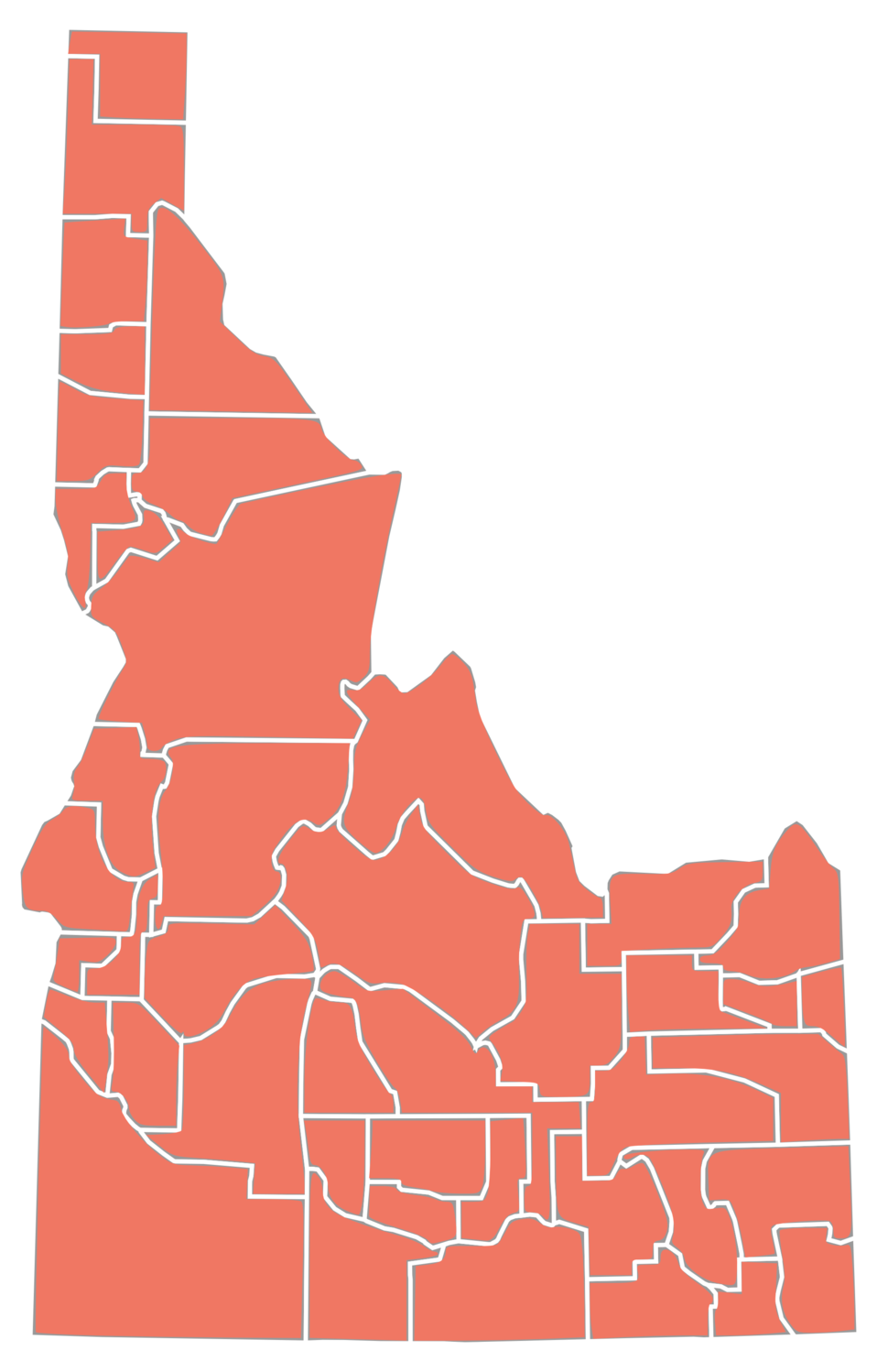 Based on :File:Idaho Senatorial Election Results by County http://www.cbsnews.com/election2010/county.shtml?state=ID&jurisdiction=0&race=S