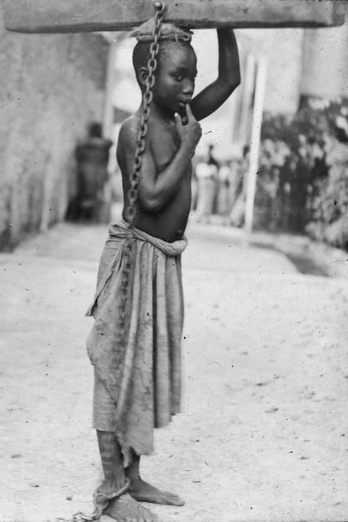 Photograph of a slave boy in Zanzibar. National Maritime Museum, London, England.