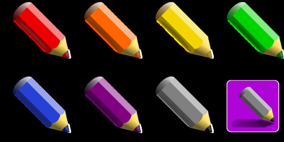 7 color pencils