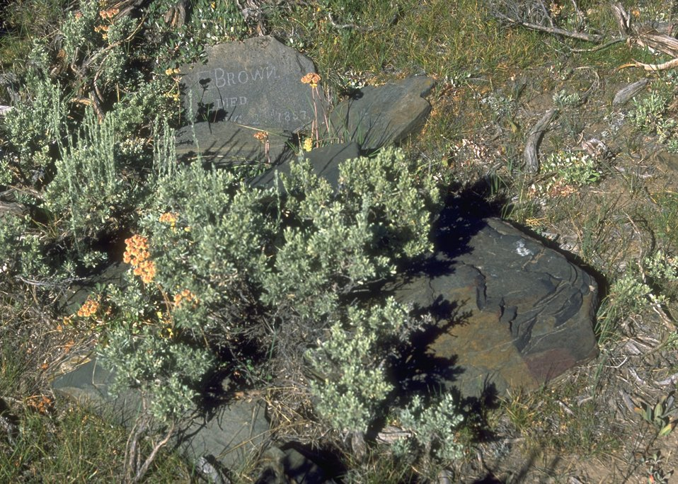 Grave site (1857) along the Oregon Trail, Lander Field Office.