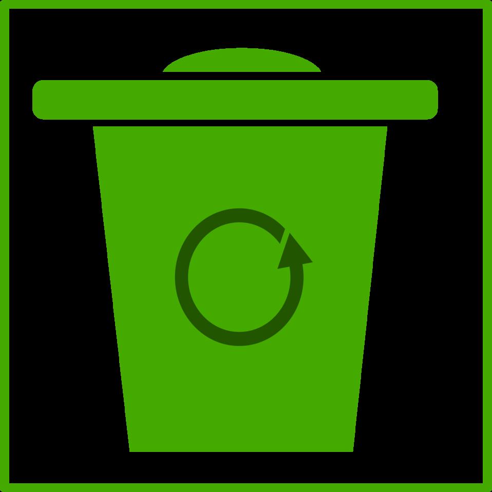 eco green trash icon