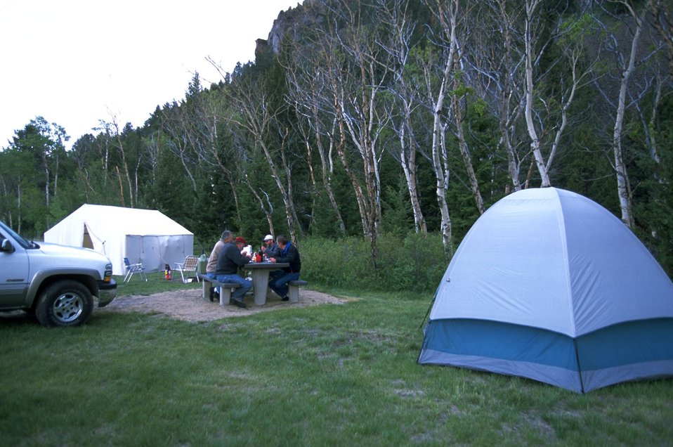 Tent campers at the Divide Campground