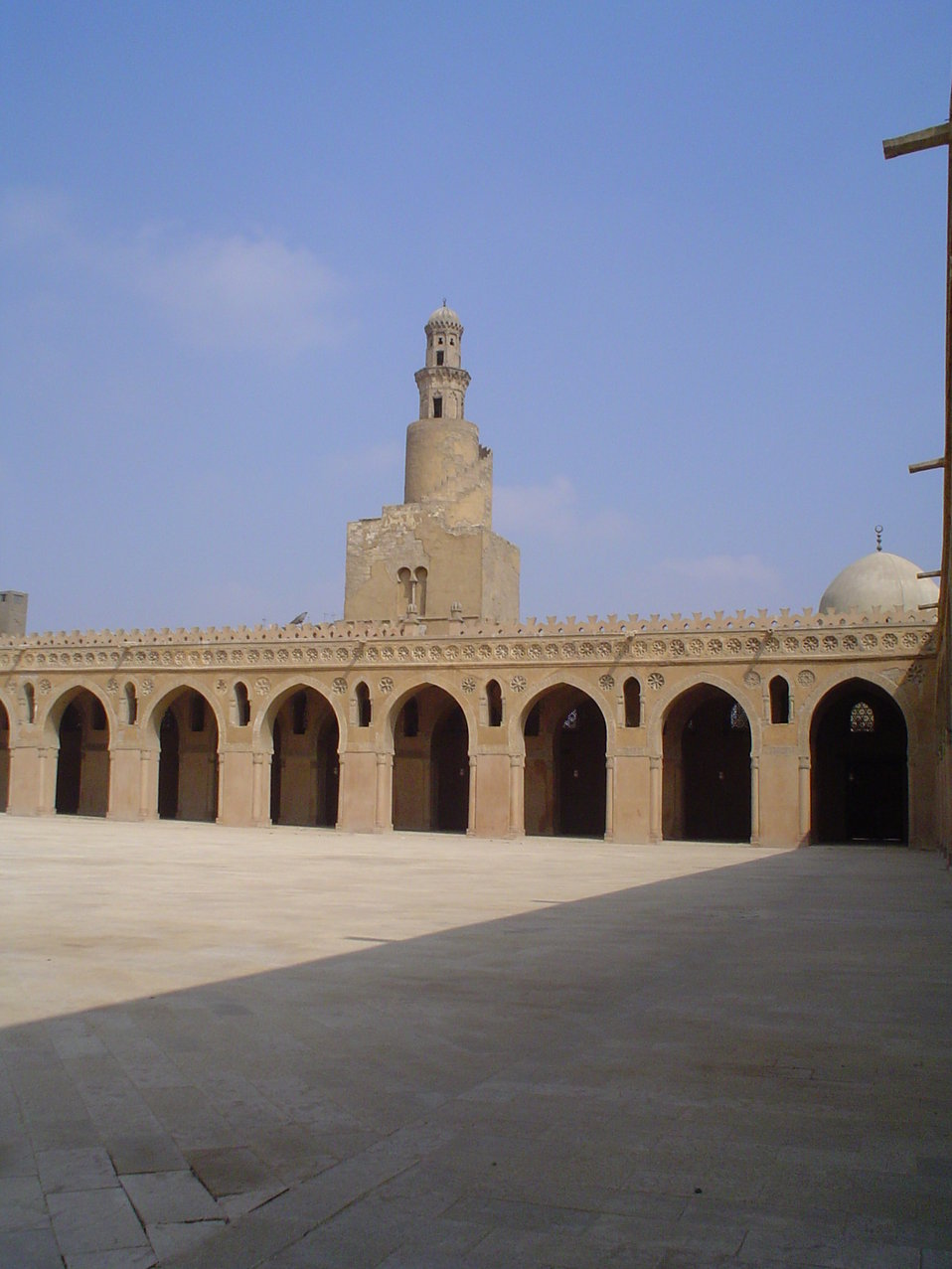 The Minaret of Ibn Tulun mosque in Cairo, Egypt.