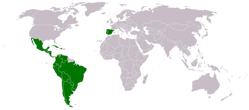 Mapa de Iberoamerica