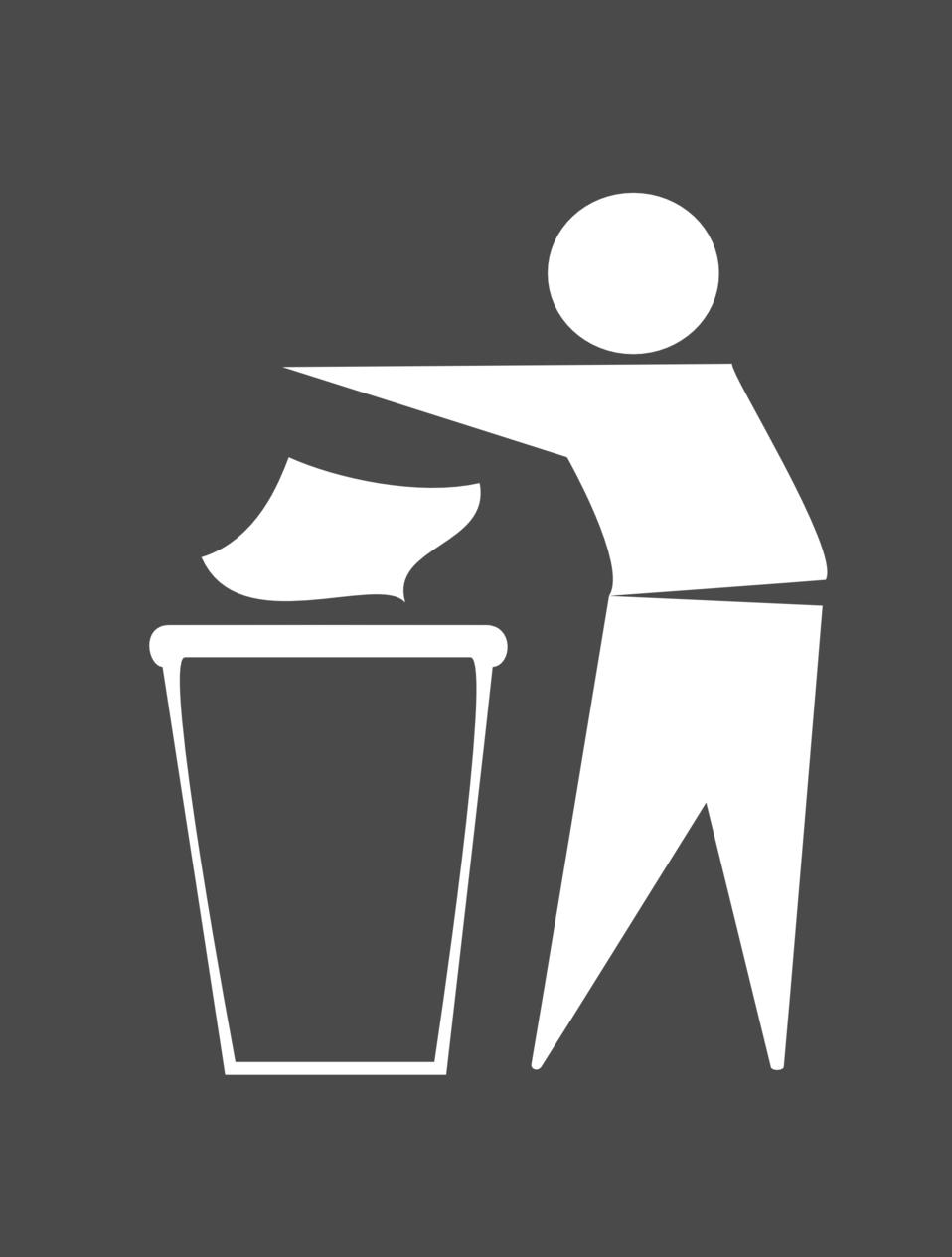 Spanish Trash Bin Sign