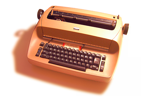 An IBM Selectric typewriter, model 713 (Selectric I with 11' writing line), circa 1970.