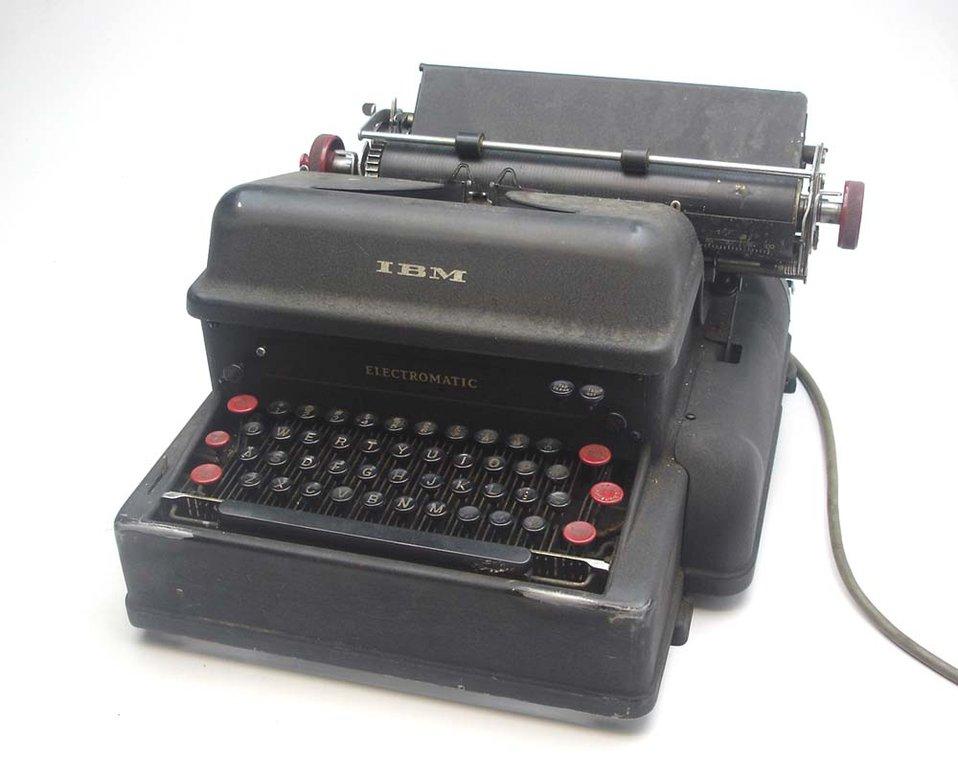I hope it helps.  A IBM typewriters.