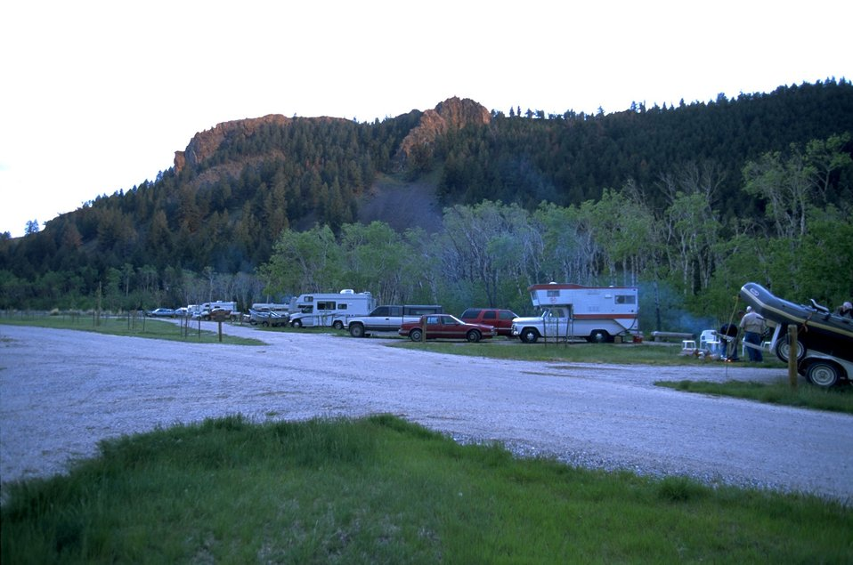 Campers at Divide Campground