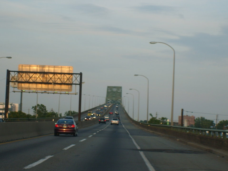 I took this myself while driving Eastbound on 1-78/New Jersey Turnpike Extenstion towards Bayonne and Jersey City.