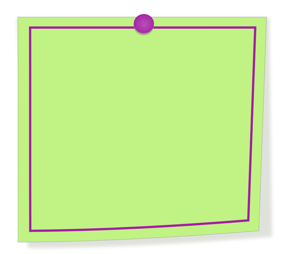 Green and purple note