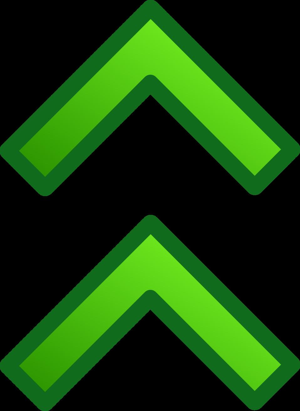 green double arrows set