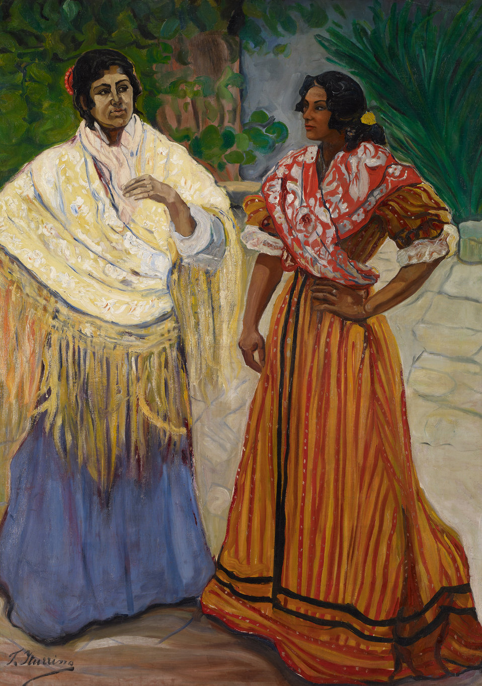Two Gypsies. Oil on canvas, 180 x 129 cm, Inv. CTB.1996.51    Museo Carmen Thyssen          Native name Museo Carmen Thyssen   Location Málaga, Spain    Coordinates 36° 43′ 17″ N, 4° 25′ 22″ W        Established 2011   Website www.carm