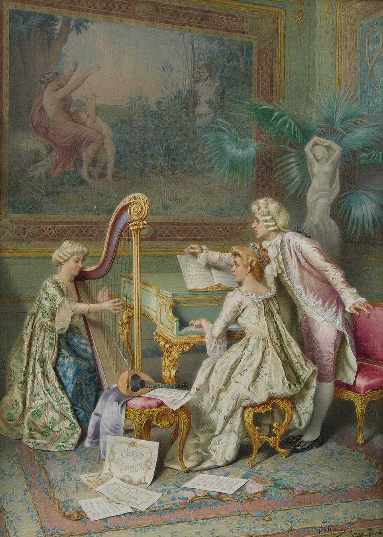 Rococo music scene