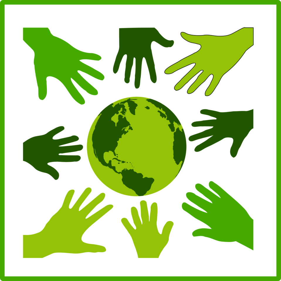 Eco green solidarity icon