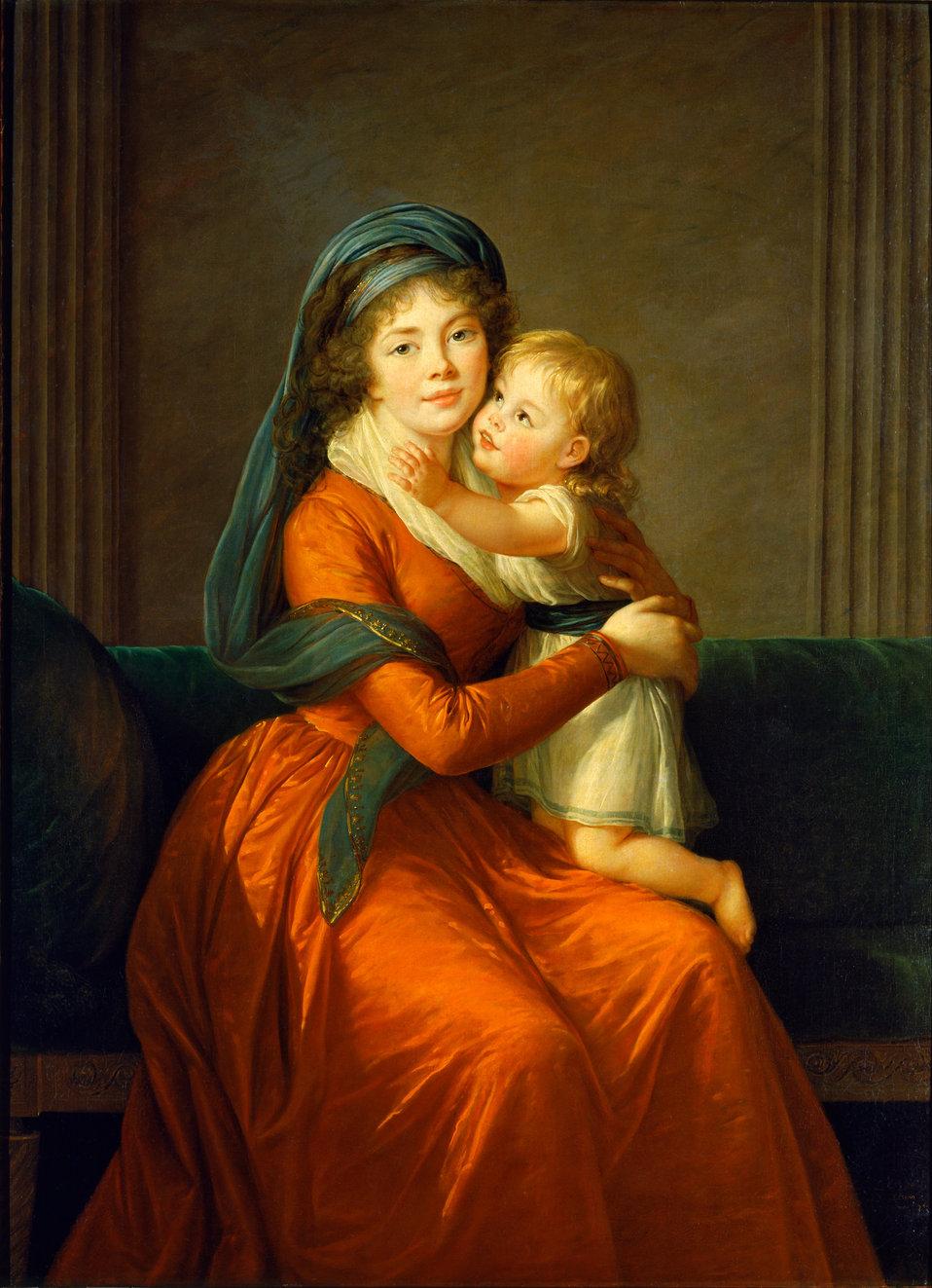Elisabeth Vigee-Lebrun - Portrait of princess Alexandra Golitsyna and her son Piotr - Google Art Project.jpg