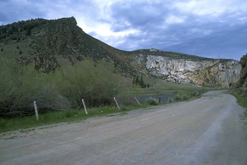 Road along the Big Hole River