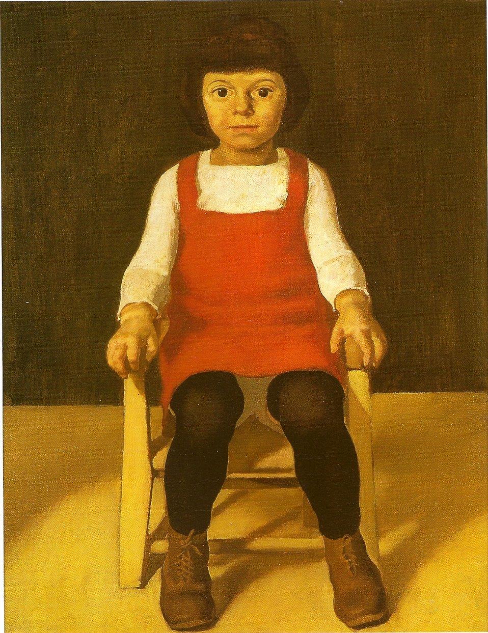 The artists daughter Ila Deutsch:  Des Künstlers Tochter Ila - Öl auf Holz 81x63 cm - Stadtgeschichtliche Museen, Nürnberg