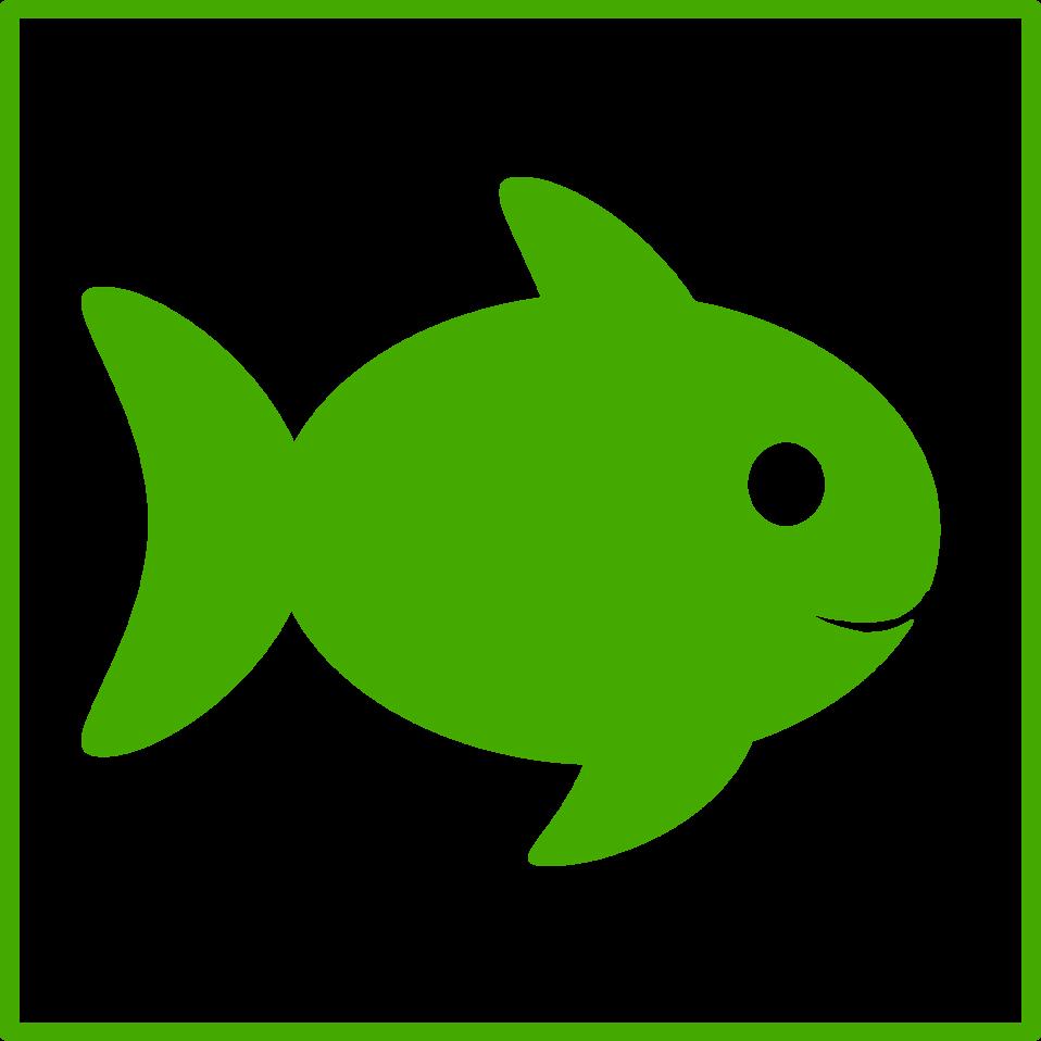 eco green fish icon