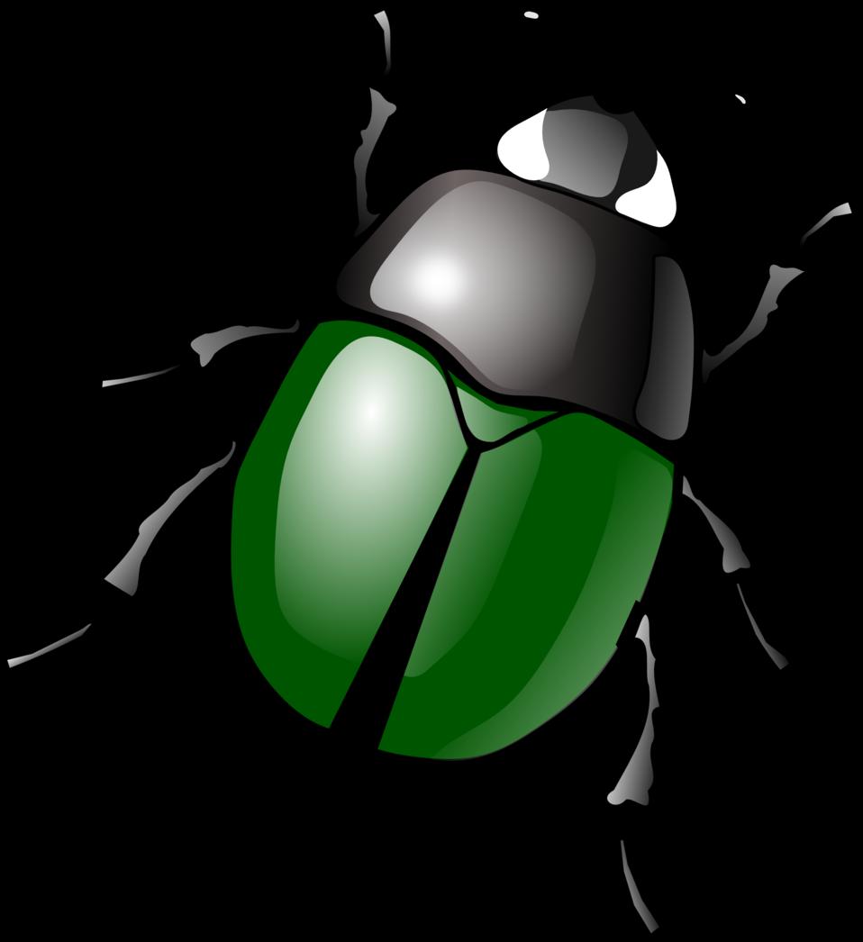 stylized green beetle
