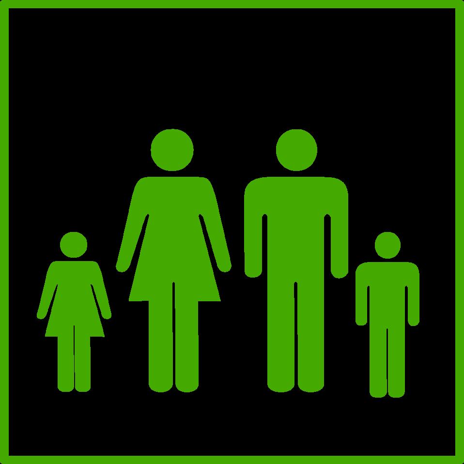 eco green family icon