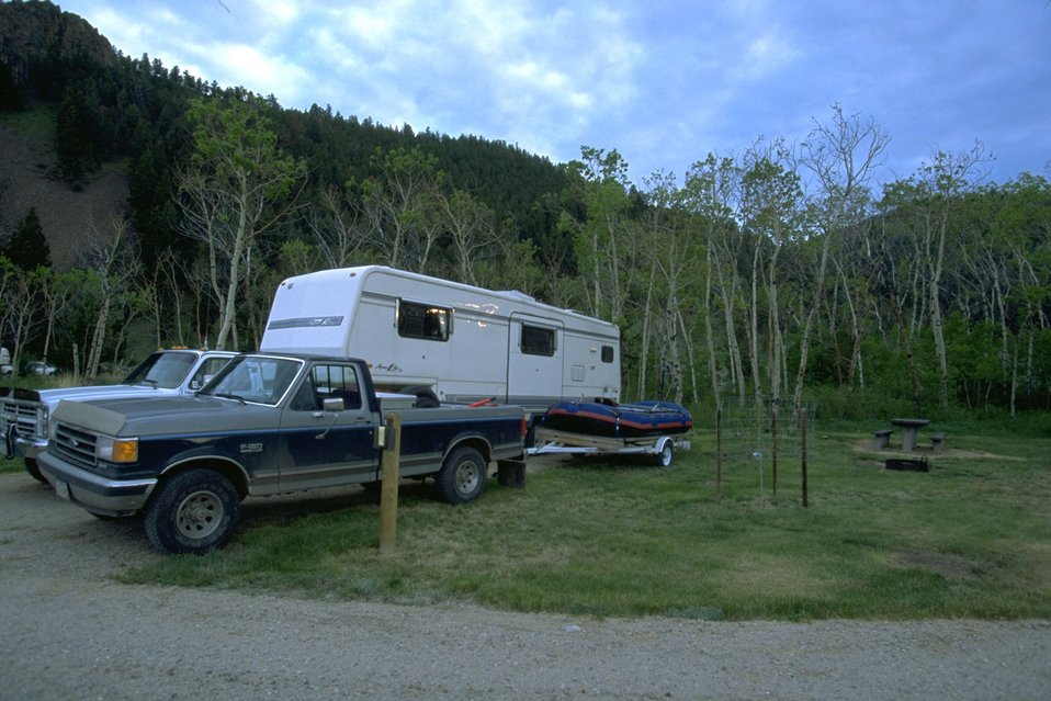 Visitors to Divide Campground