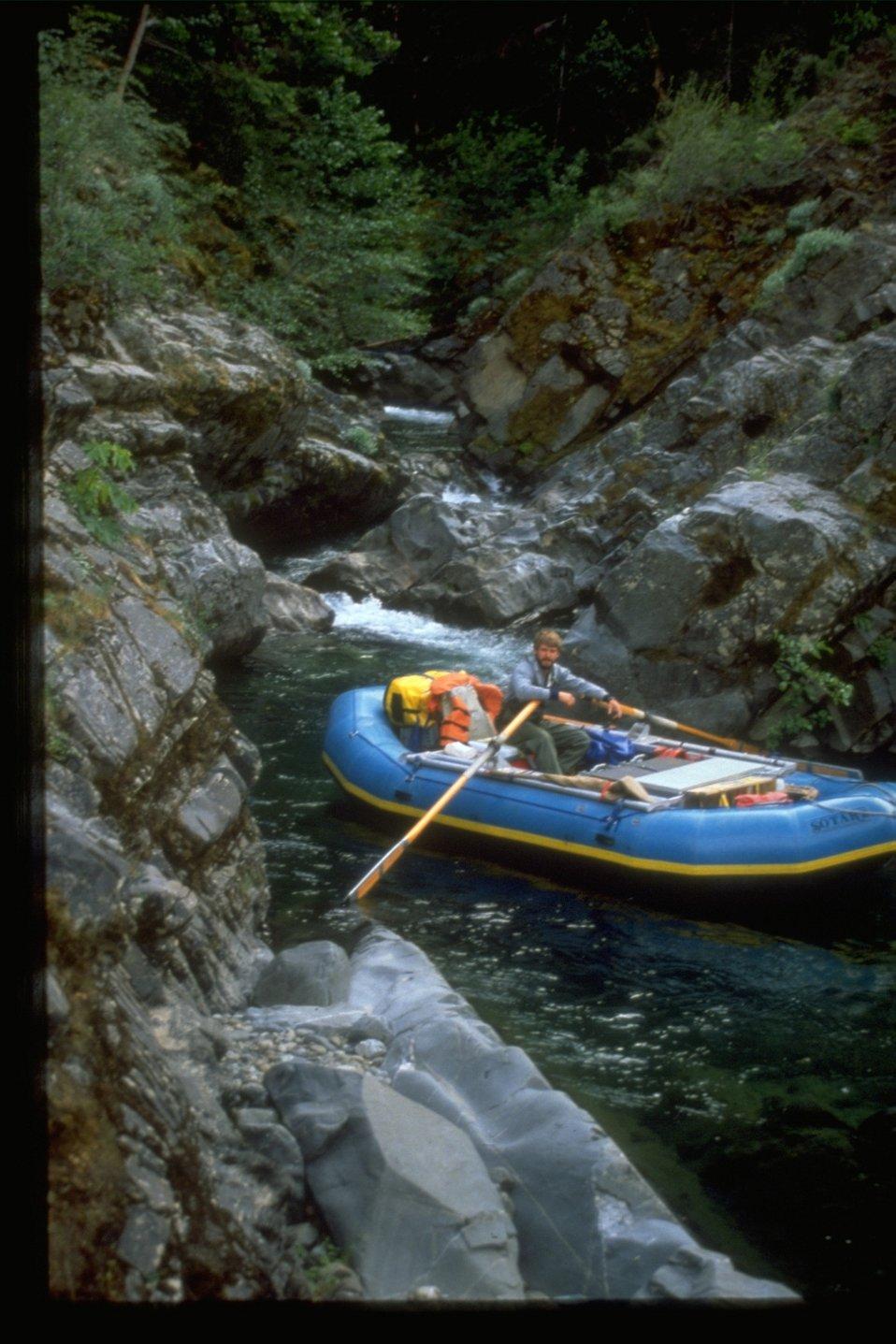Rafting inside of Big Windy Creek.