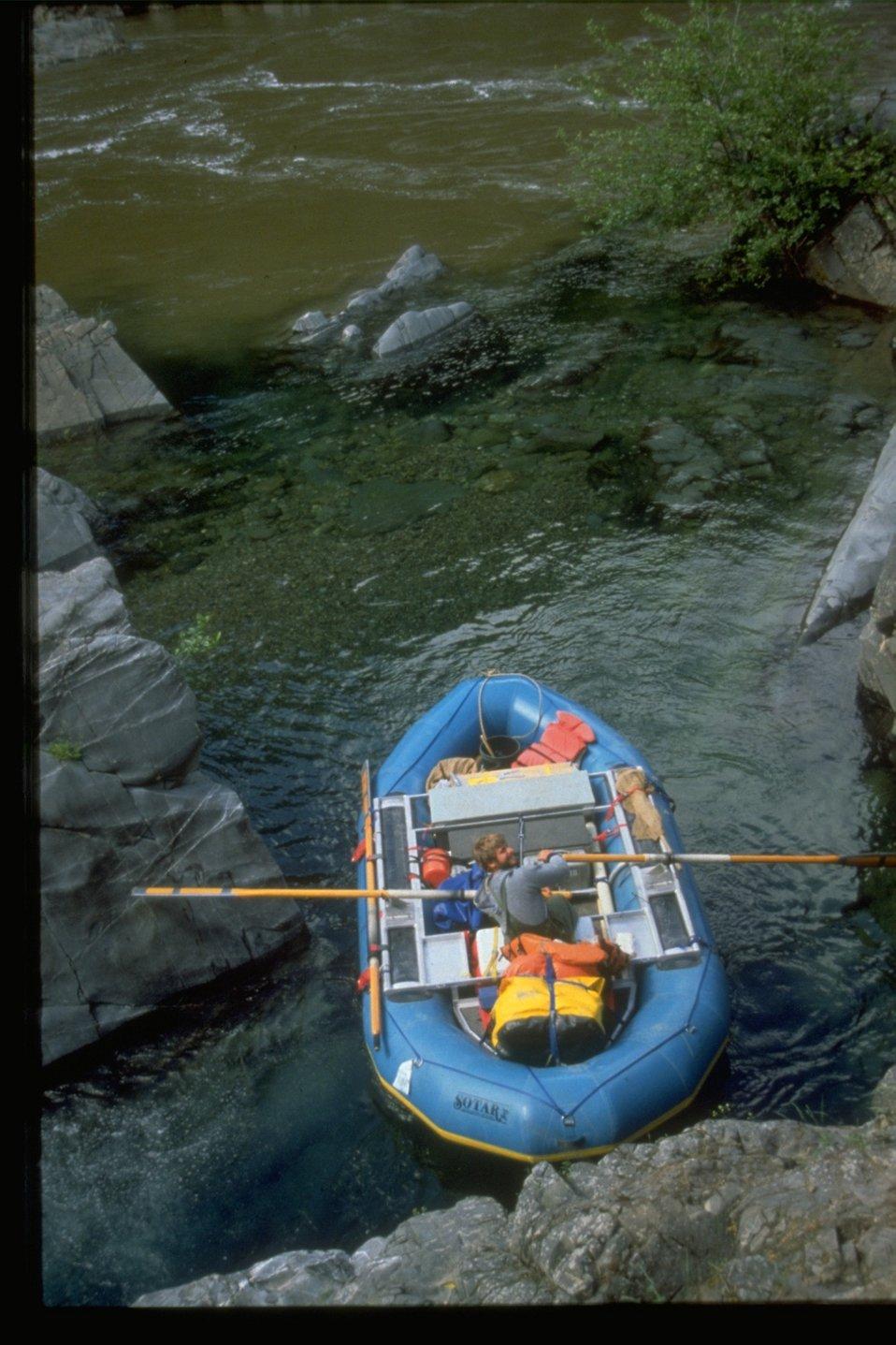 Rafting in Big Windy Creek.