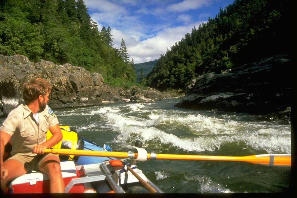BLM workers rafting down the Wild Section of the Rogue River.