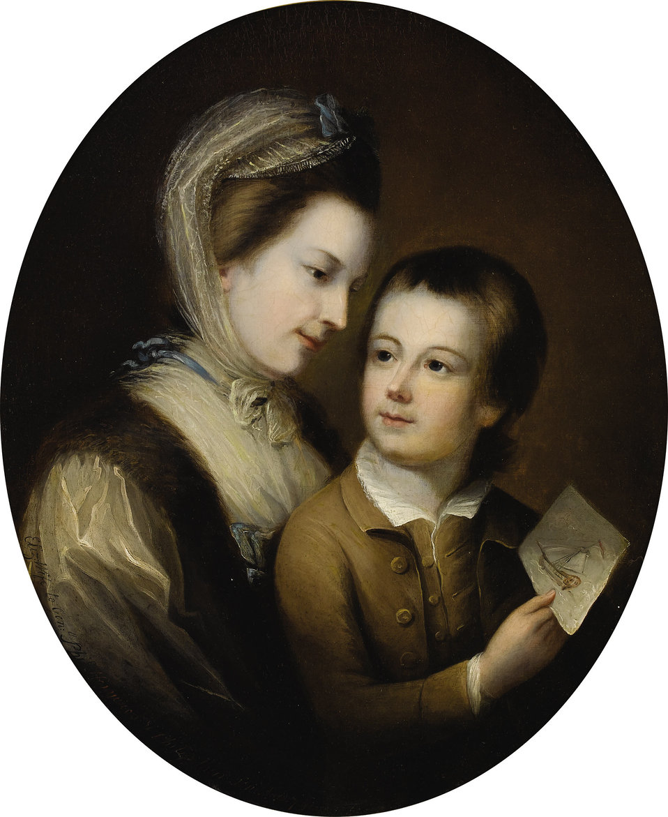 Attrib. to Thomas Gainsborough - Portrait of Elizabeth Honywood and her son Philip.jpg