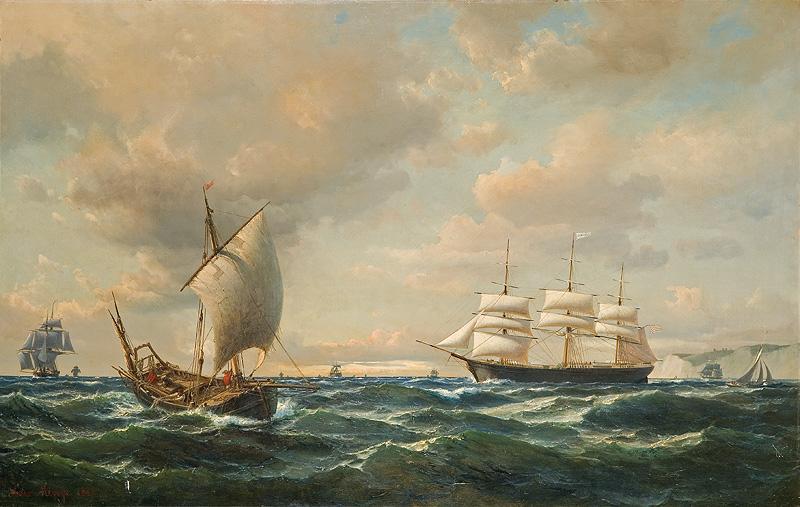 Anton Melbye - Sejlads ud for engelske kyst.jpg