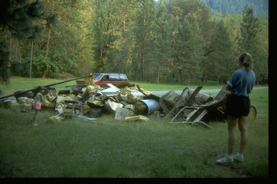 National River Cleanup Trash Pile