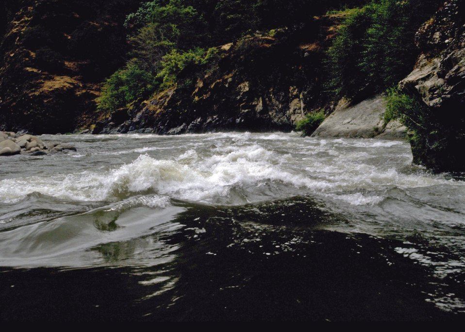 Wild section of the Rogue River.