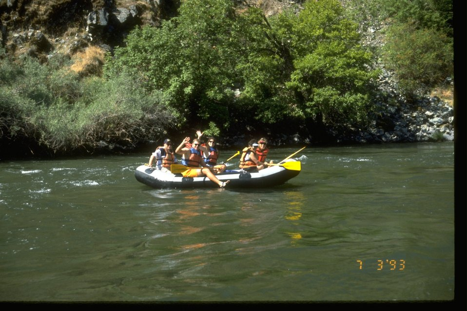 Paddle raft in the Rogue River Hellgate Canyon.