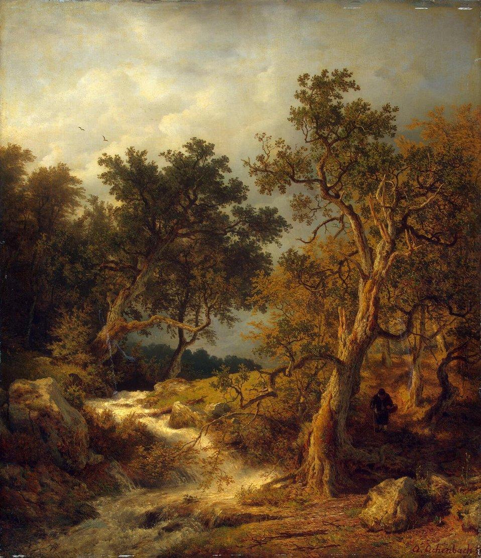 Andreas Achenbach - Landschaft mit Bach.jpg
