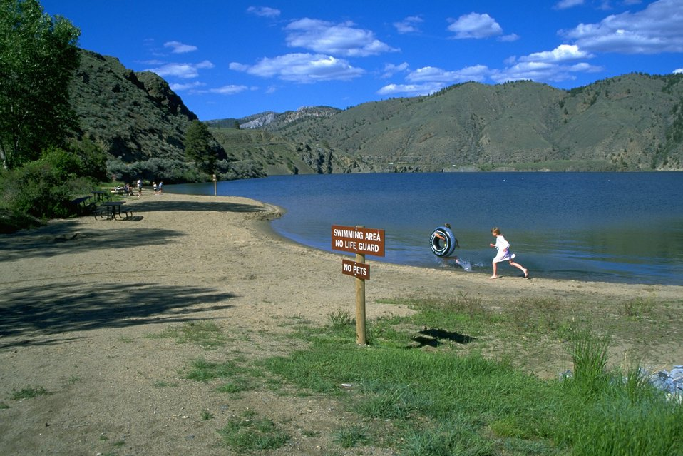 Sign at the Swimming Area at Hauser Lake