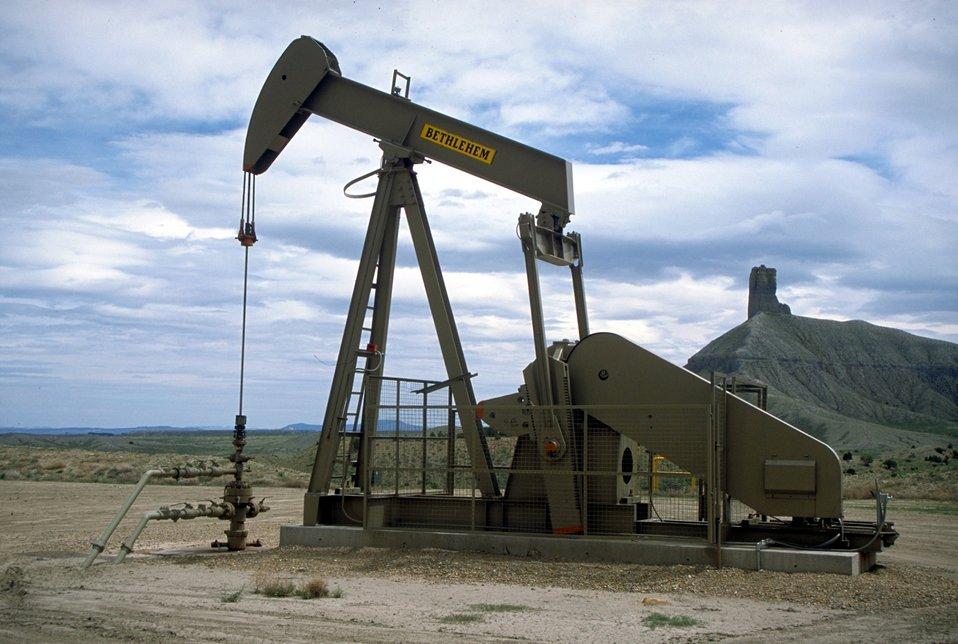Pump unit producing coal bed methane near Price, Utah.