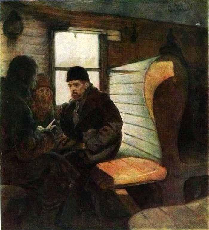 Agitator in the wagon by S.V. Ivanov (1886).jpg